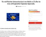 Peticija za ratifikaciju demarkacije sa Crnom Gorom