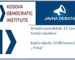 Kosovski Demokratski Institut, poziva na javnu debatu  mještane Vraniše i Rapče
