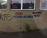 """#UNMIK RUSMIK"" grafiti osvanuli u Prištini"