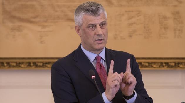 Tači: Neće se razgovarati o podeli Kosova