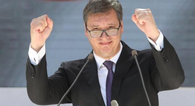 Vučić u Mitrovici: Milošević je bio veliki srpski lider, Srbi su ginuli, za Knin, za Sarajevo, za Prištinu