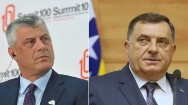 Klix: Dodik pozvao Tačija u posetu BiH