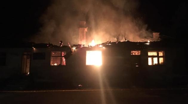 Kruševo: Požar u zgradi pošte i matične službe