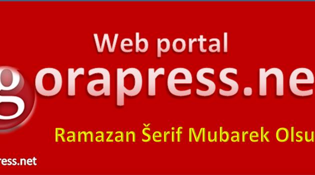 Gorapress: Ramazan Šerif Mubarek Olsun!